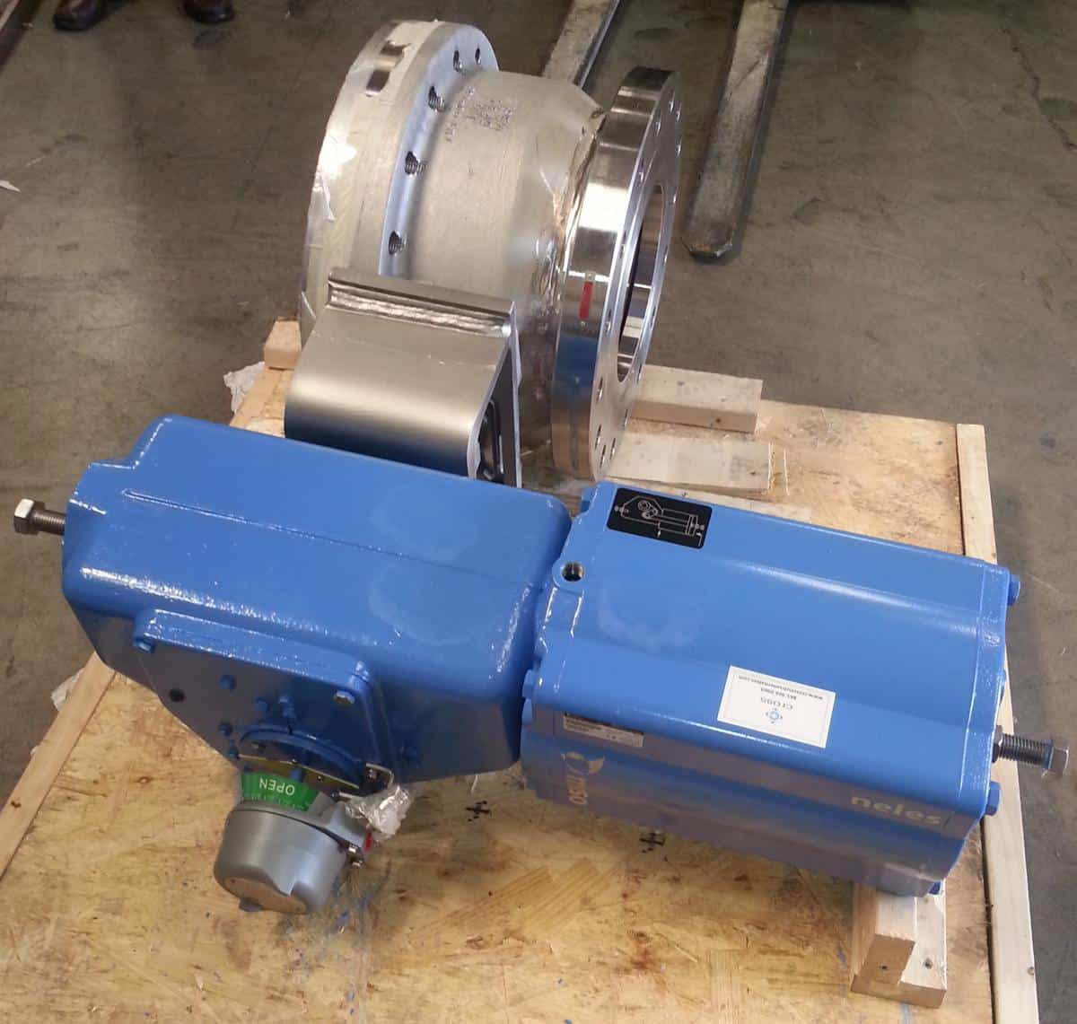 Metso Pneumatic Actuator Attached To A Valve