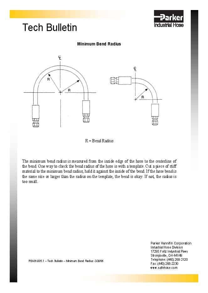 Minimum Bend Radius in Hose 1